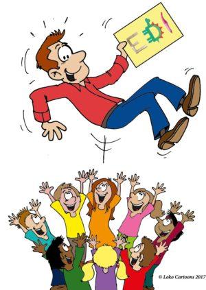 Certificaat mannelijke docent (losse cartoon)
